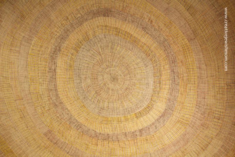Aboriginal Women's Art  huge weave look painting