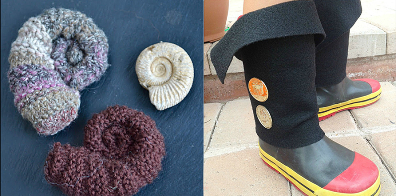 Felt pirate boot cover knit fossils