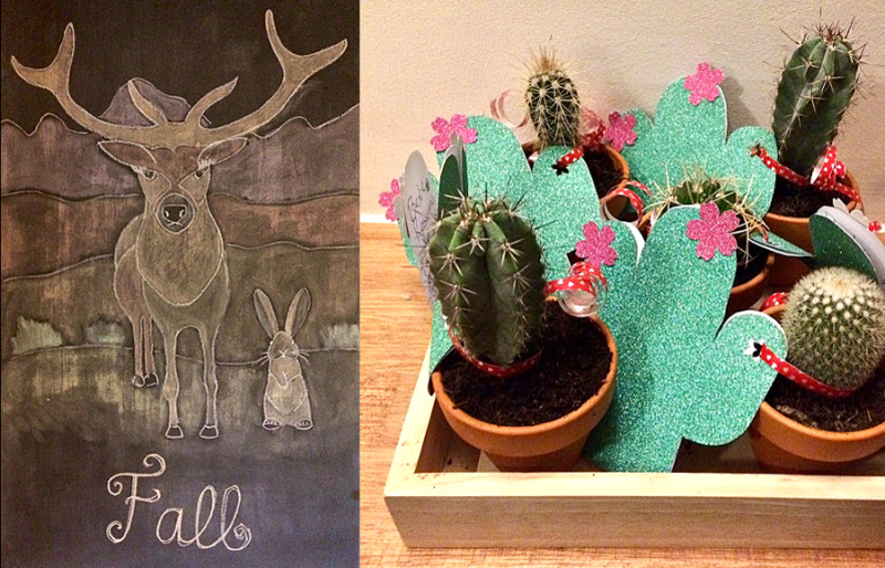 Fall-chalkboard-art cactus-cards-and-party-favors