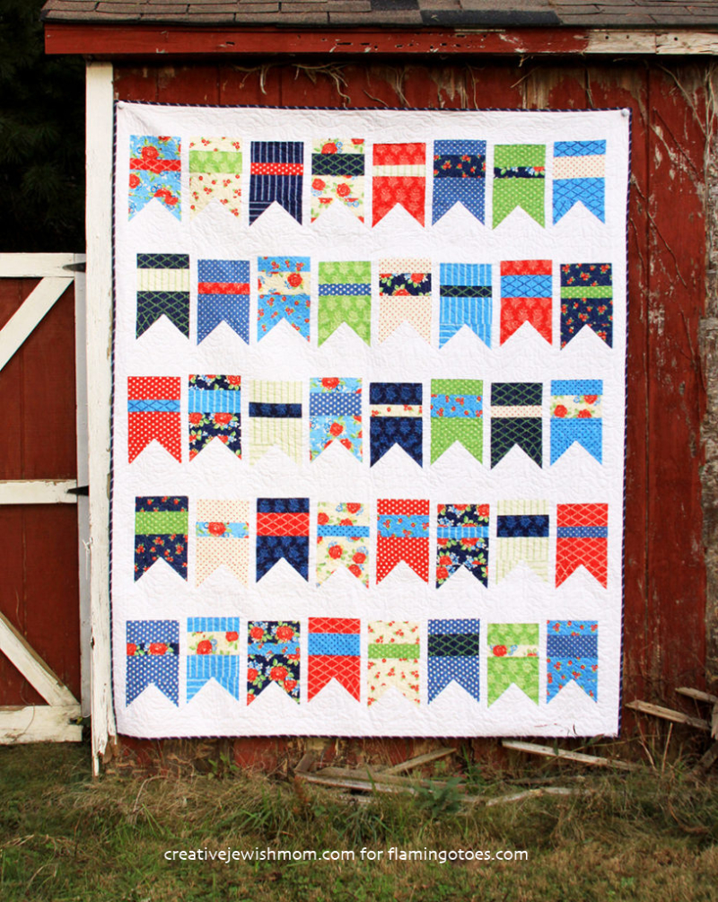 Colorful-Pennant-motif-Quilt