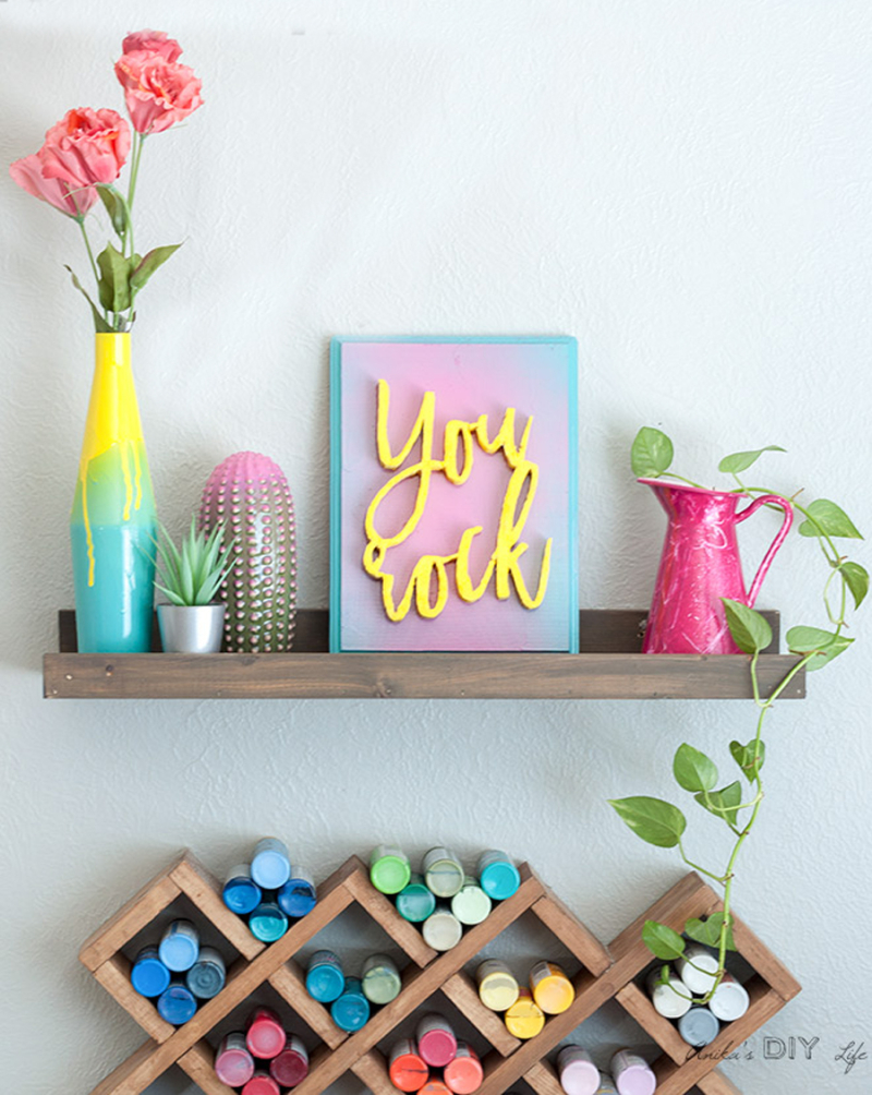 Spray-painting-DIY-quick-crafts