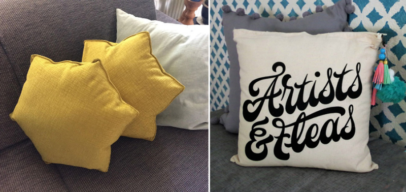 DIY-Decorative-Pillow-from-Tote-Bag DIY hexigon star pillow