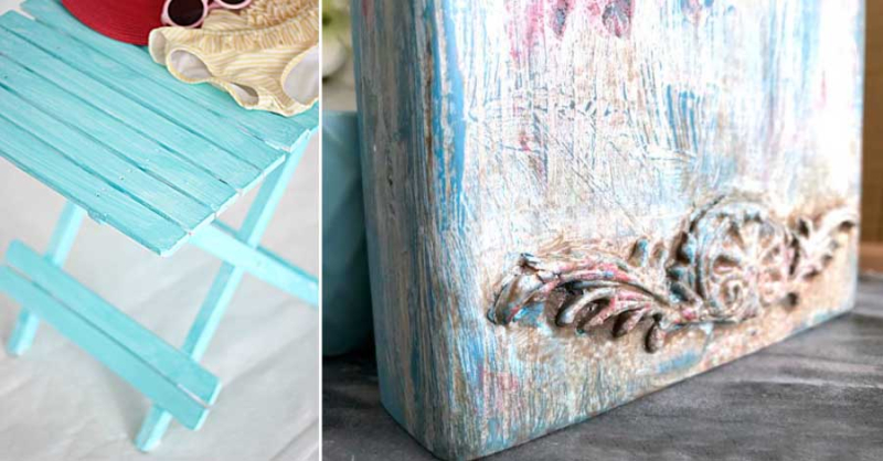DIY boho paint finish beachy weathered paint finish