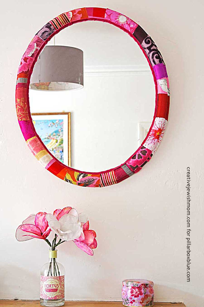 Patchwork-Fabric-mirror-frame
