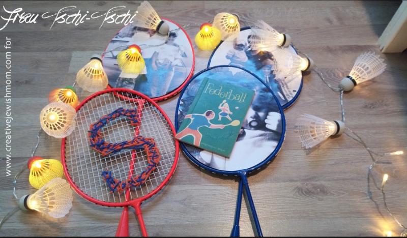 Badminton-raquette-wall-decor