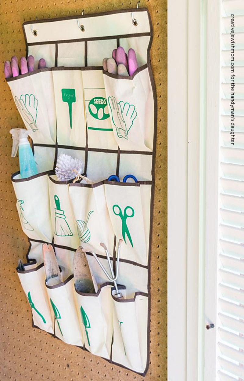 Garden-tool-organizer-from-shoe-organizer