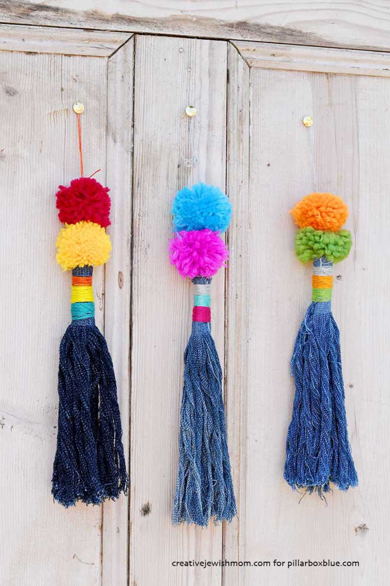 How-to-make-tassels-from-old-jeans