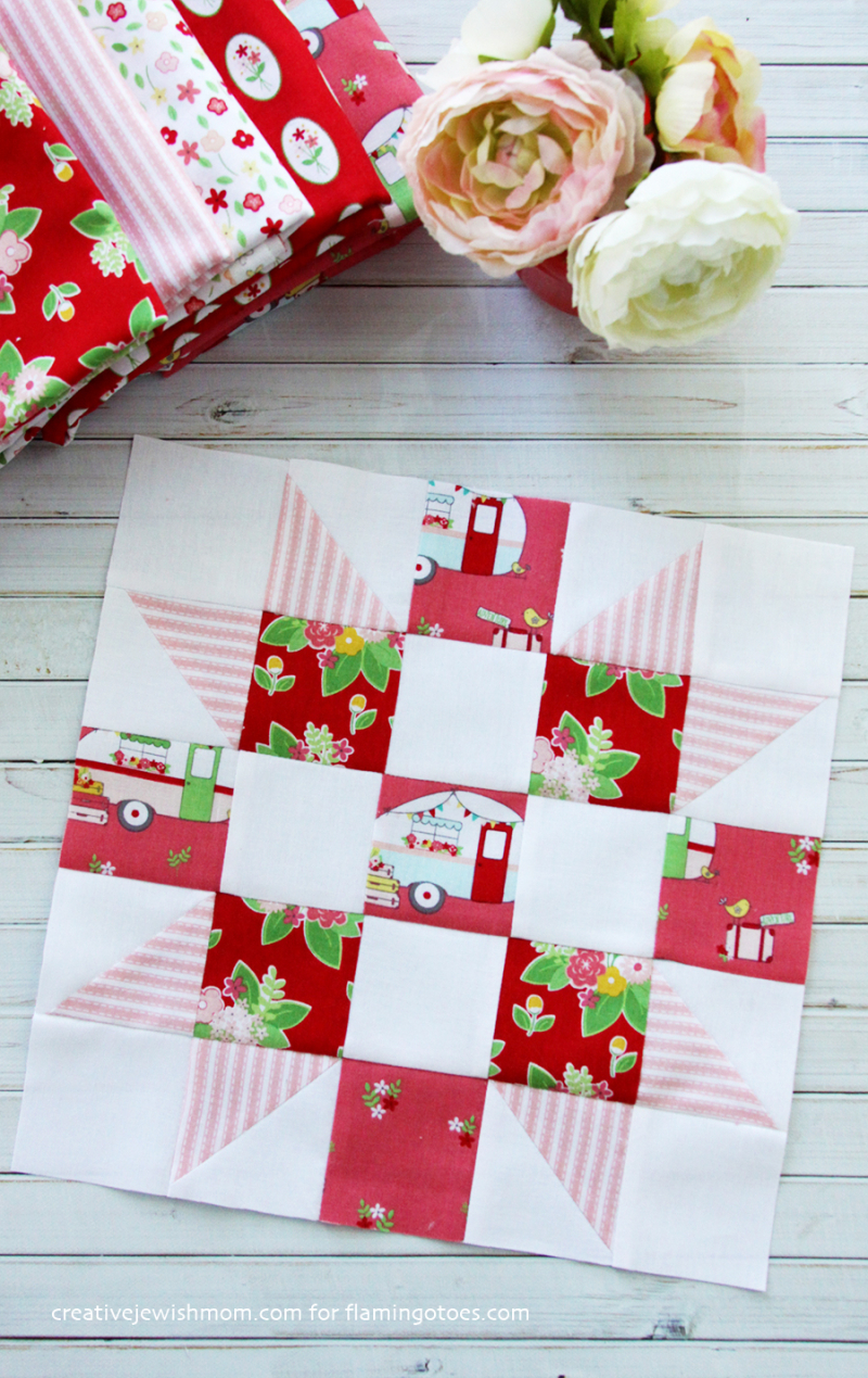 Quilt-Block-with-vintage-camper-print