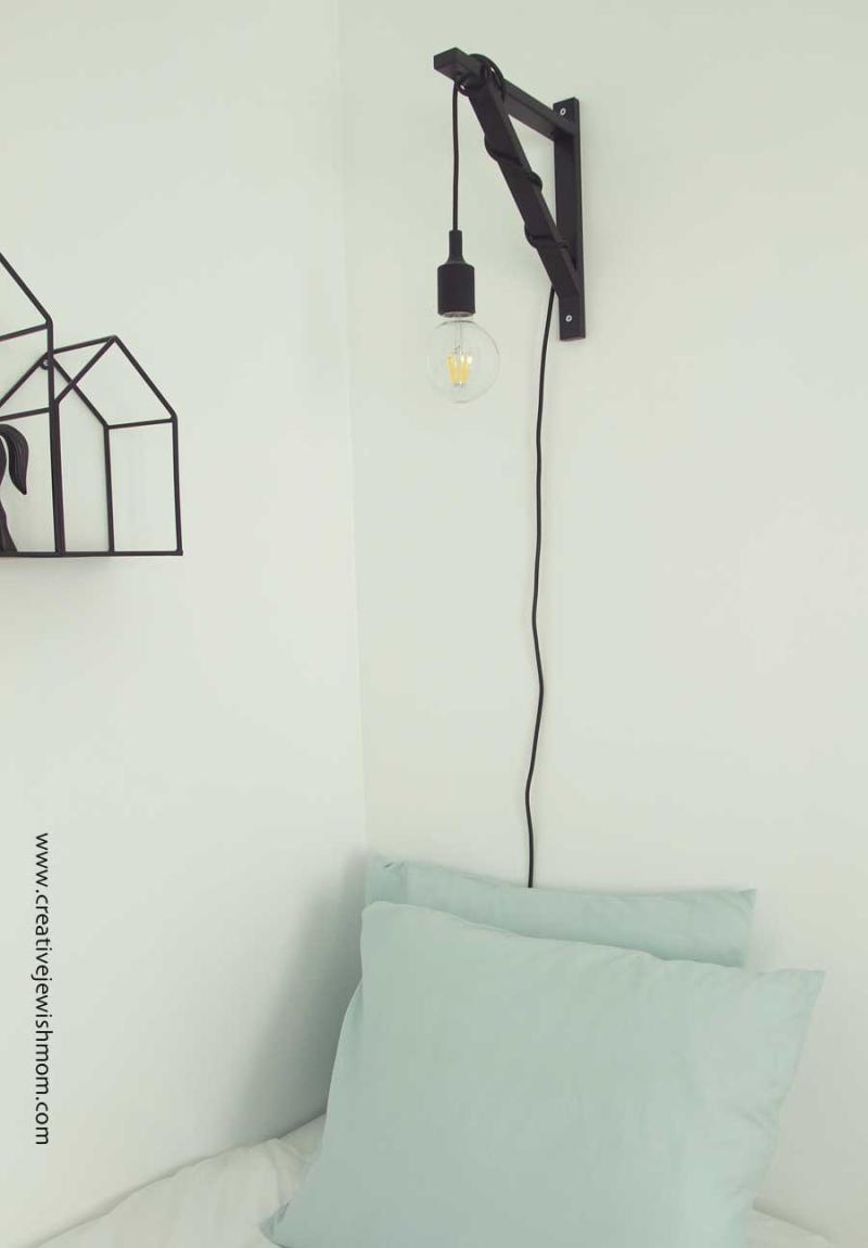 Ikea Hack wall sconce using ekba valter bracket