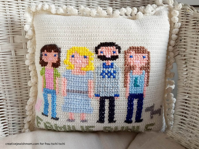 Crochet-with-cross-stitch-family-portrait