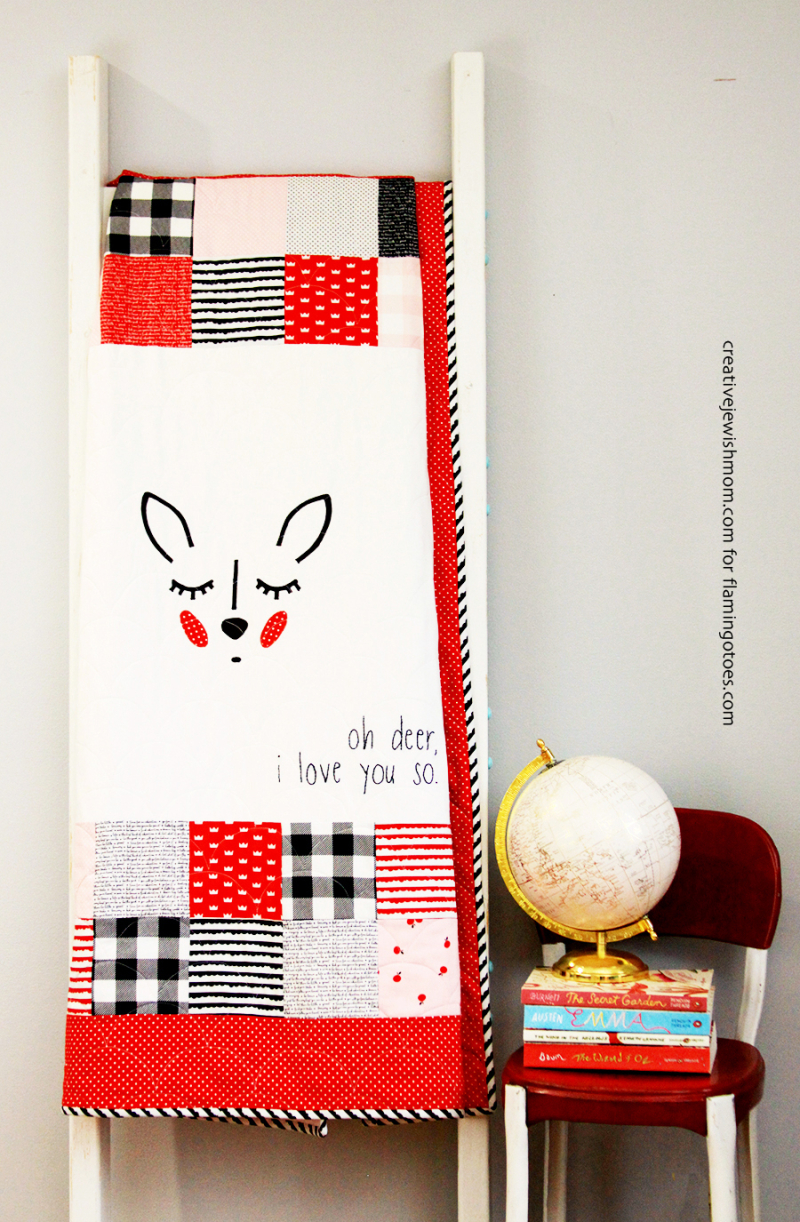 Cute-Deer-Baby-Quilt-with-embroidery