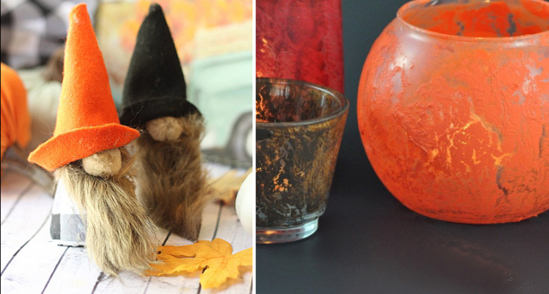 DIY-crackle-paint-votives fall-knomes-craft