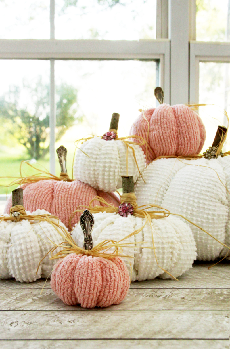 Pretty-Fabric-Chenille-Pumpkins