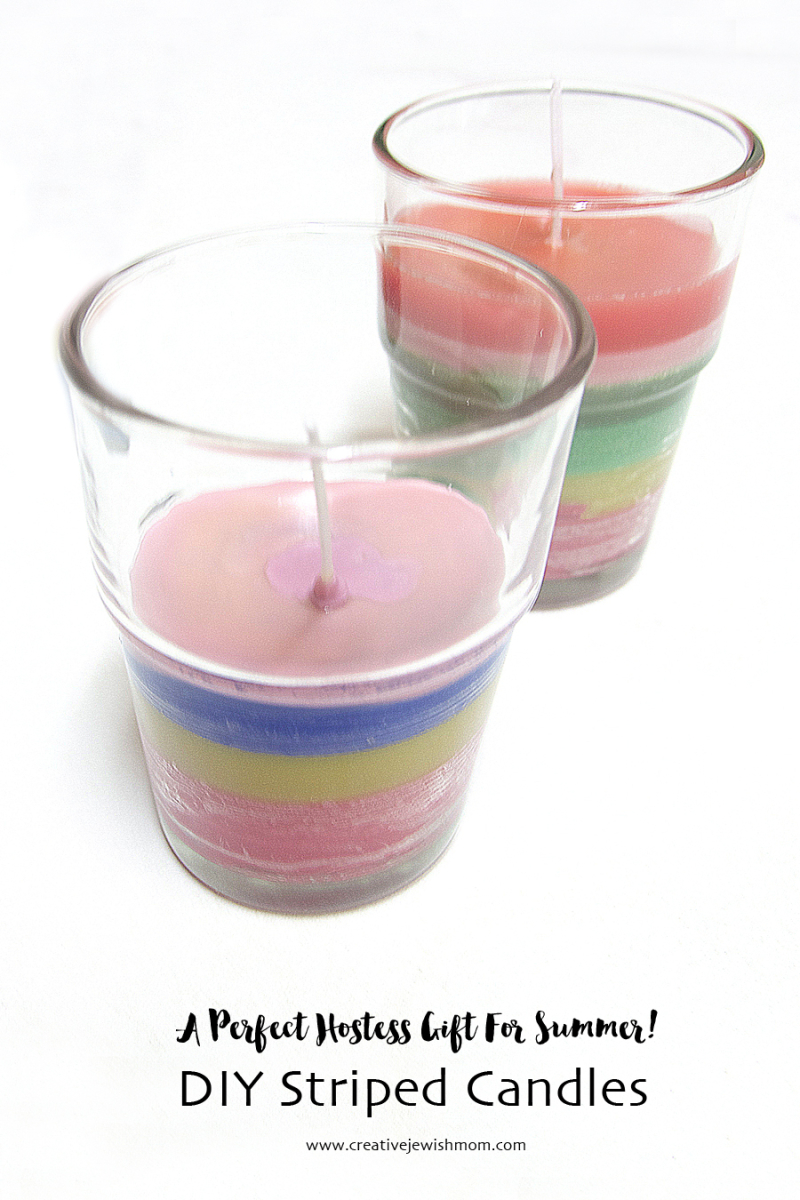 DIY-Striped-Candles-In-Glasses