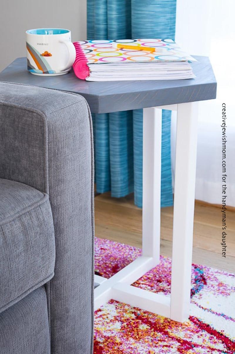 DIY-hexagon-side-table