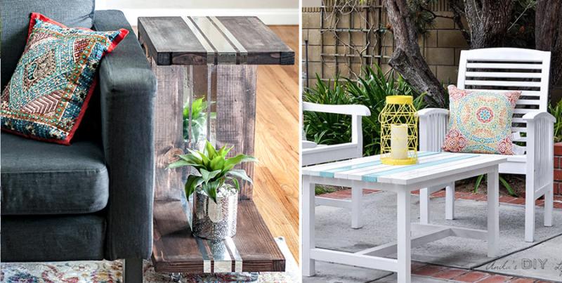 DIY C-Table DIY outdoor coffe table
