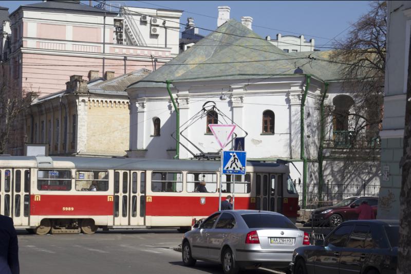 Kiev Street Car in Podil