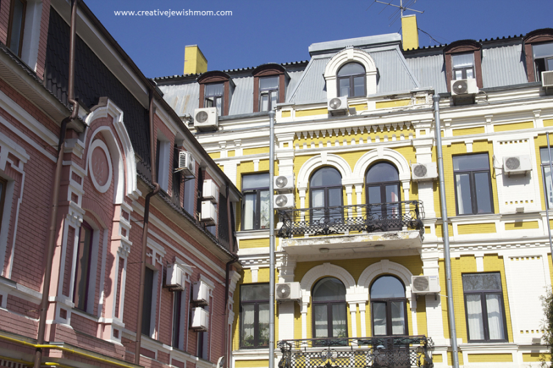 Ukraine  Kiev Podil Stucco Buildings