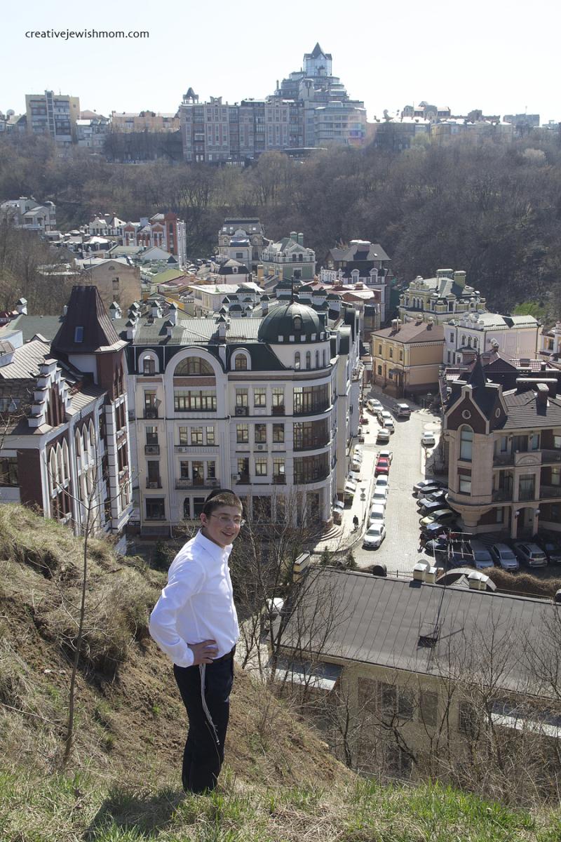Ukraine Kiev Castle Hill With Boy