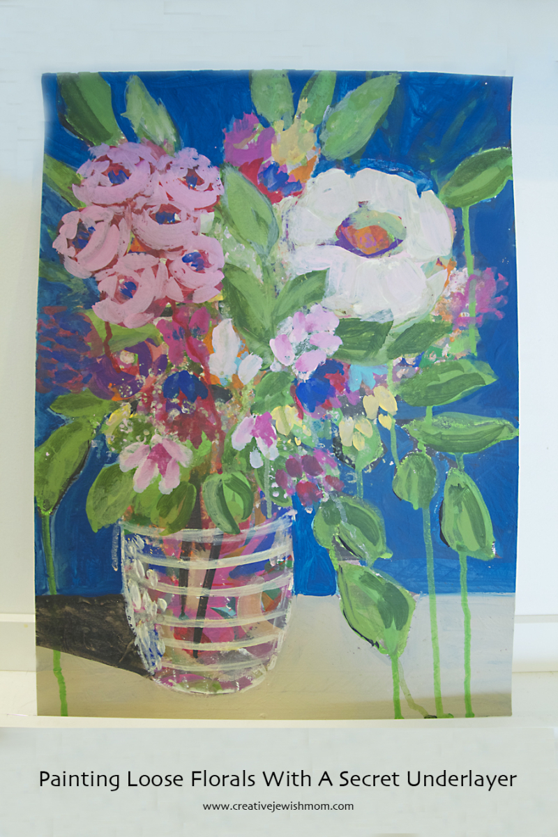 Floral Painting With Mystery Background