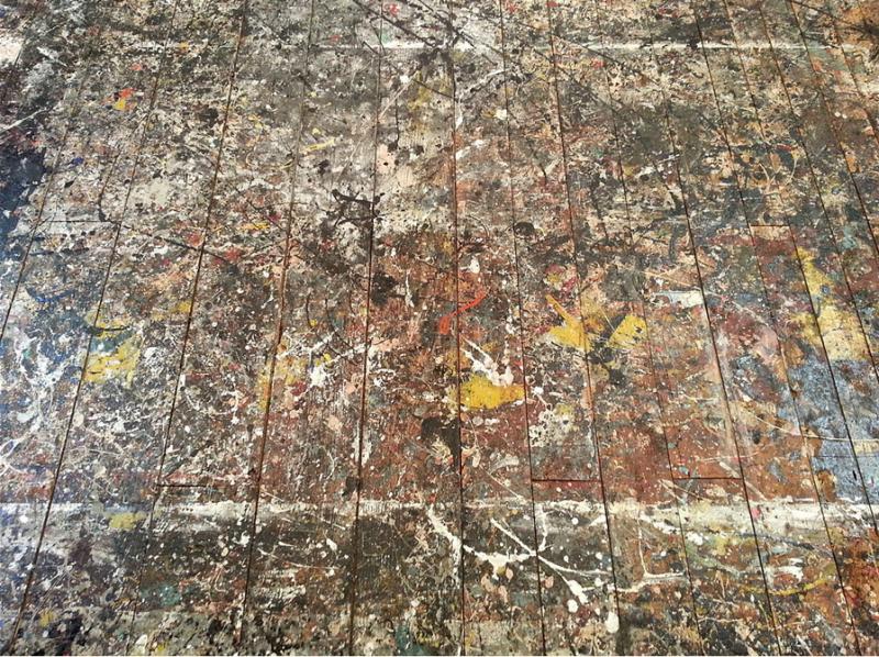 Jackson Pollack studio floor