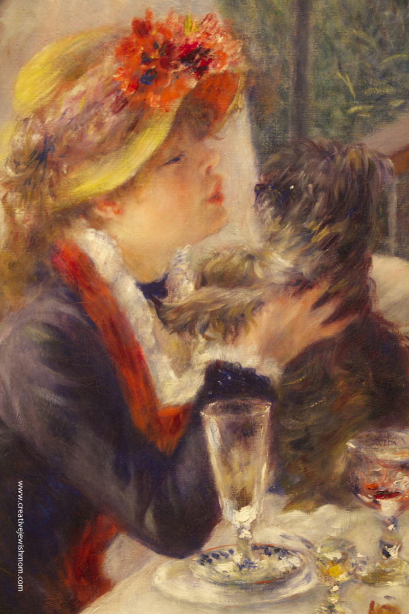 Luncheon Of The Boating Party Renoir girl with dog