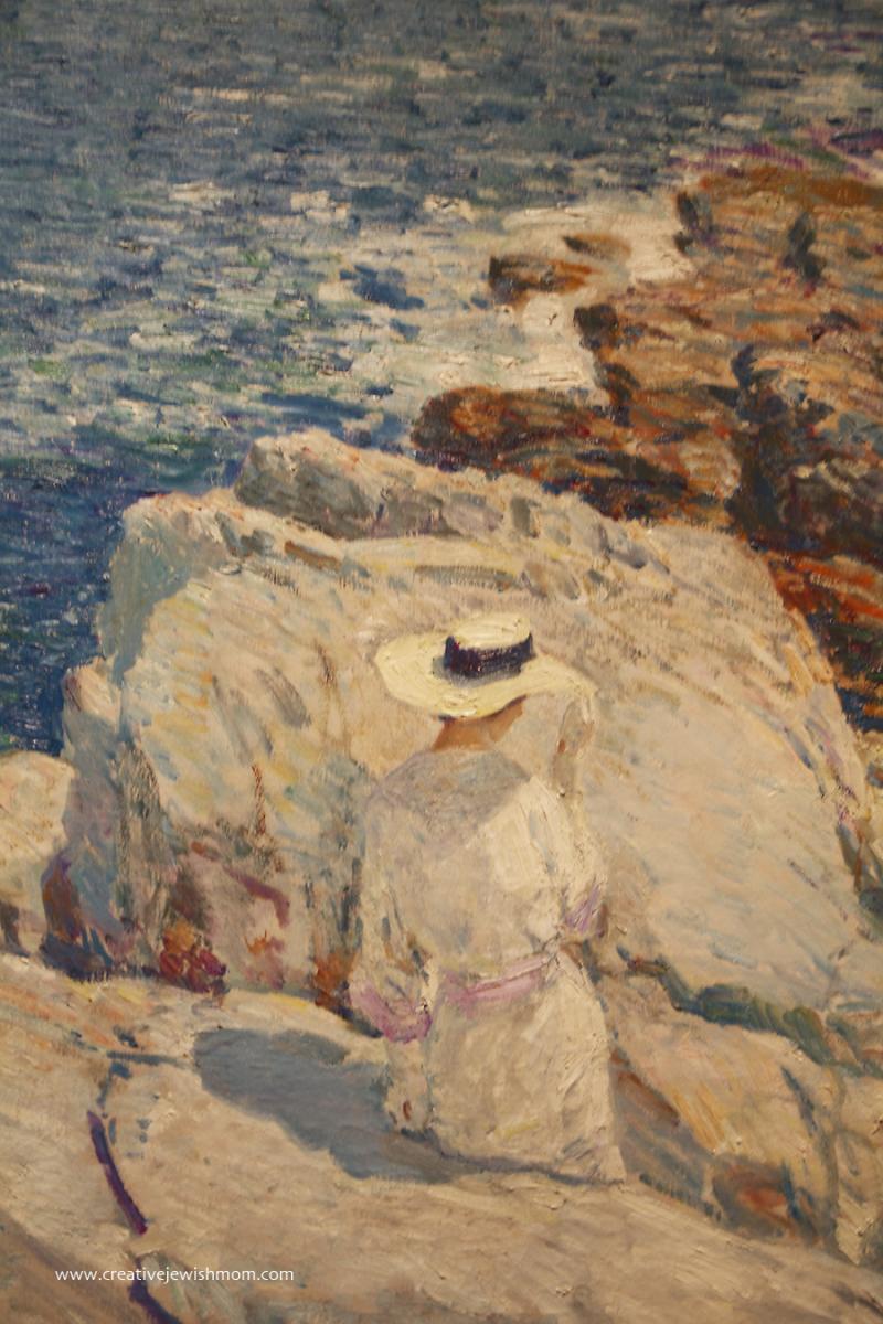 Childe Hassam Woman On Rocks
