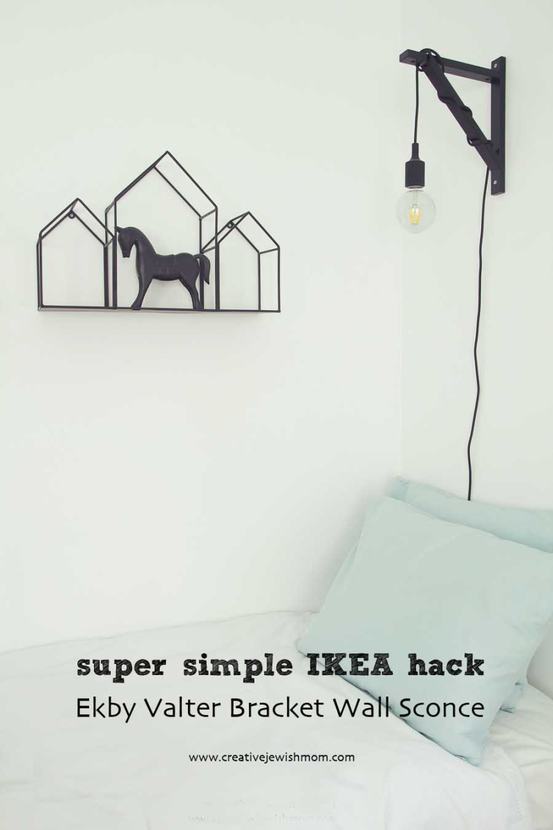 Ikea Hack Shelf Bracket Sconce