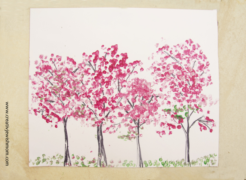 Almond Trees In Bloom painting craft