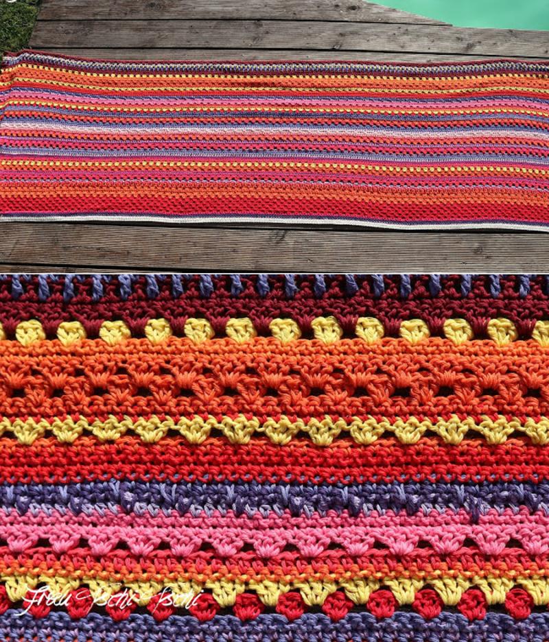 Crocheted-weather-blanket
