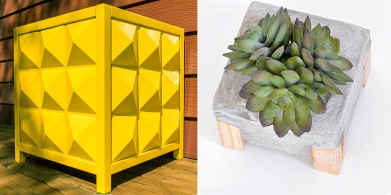 DIY-Modern-Outdoor-Planter-Box DIY-small-cement-planter