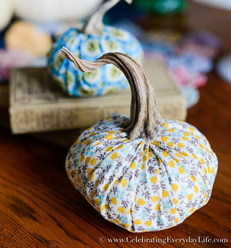 Simple DIY Fabric Pumpkins