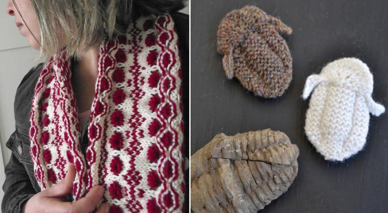 Knit fairisle cowl knit fossils