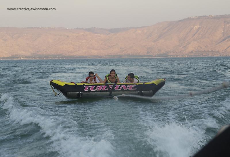 Tubing In Israel Lake Tiberius