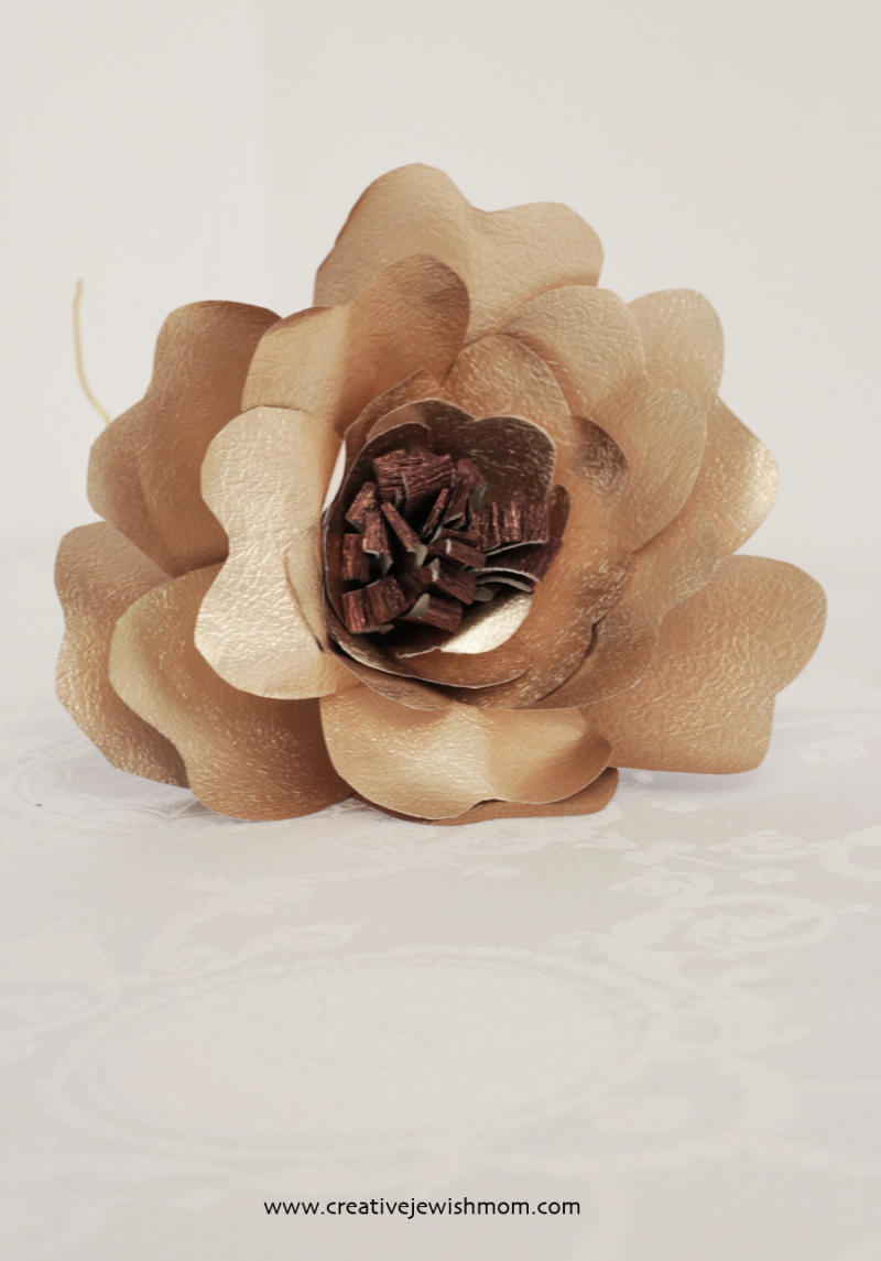 Giant gold paper flower simple
