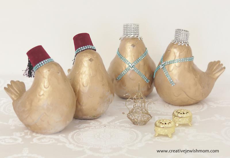 Gold Doves Wedding Centerpiece