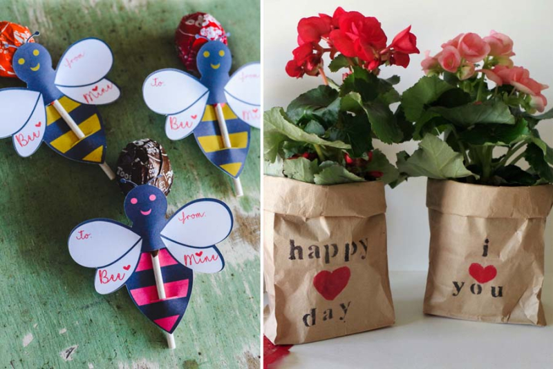How-to-Make-an-Easy-Bumble-Bee snf plant in a bag gift