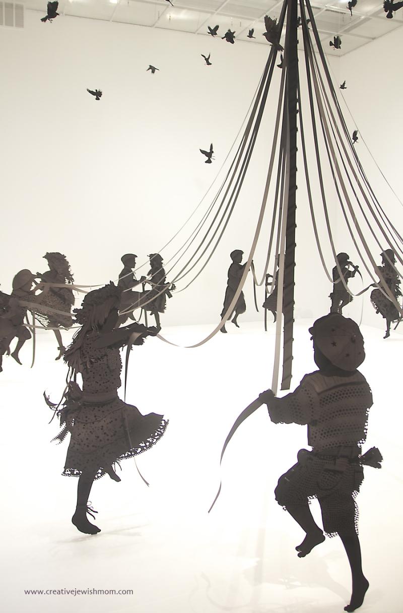 Paper silhouette maypole