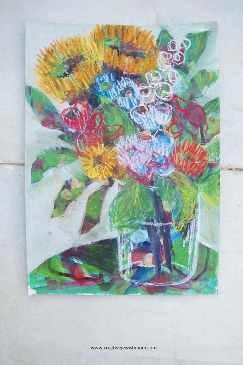 Sunflower Pastel Drawing Painting