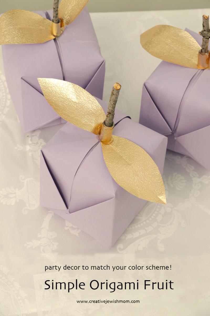 Paper-origami-fruit-centerpiece