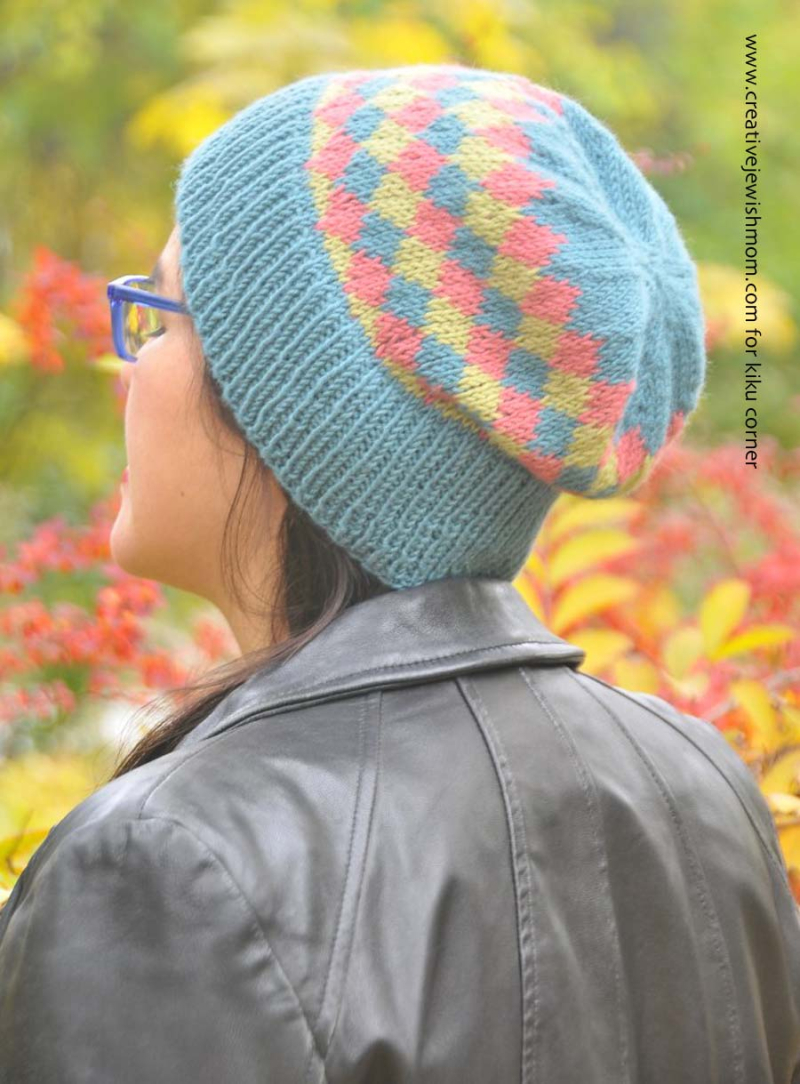 Knit-Diamond-Hat-Free-Pattern