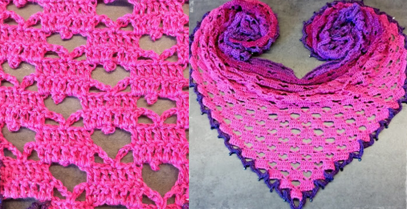 Crocheted-double-crochet-hearts-shawl