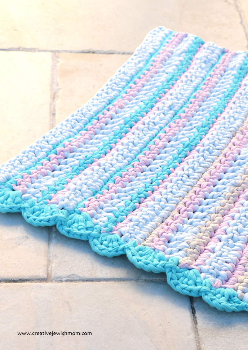 Crocheted t-shirt dish towel