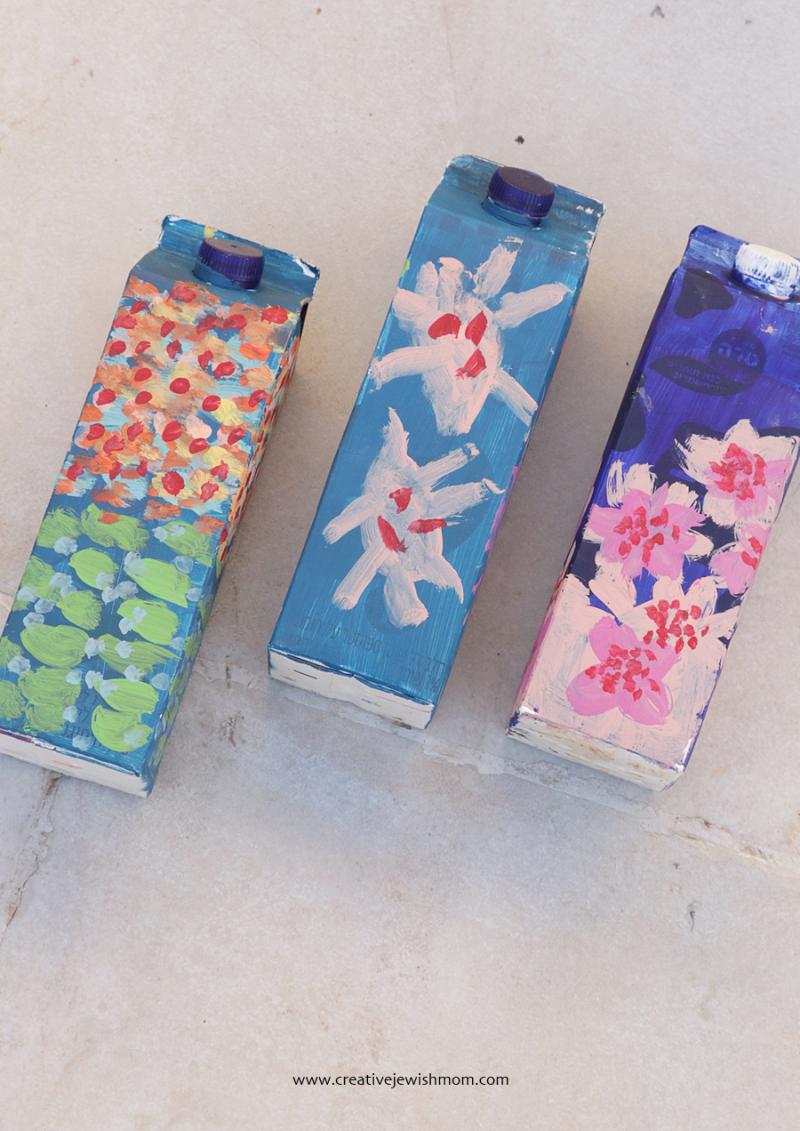 Painted-milk-cartons-craft