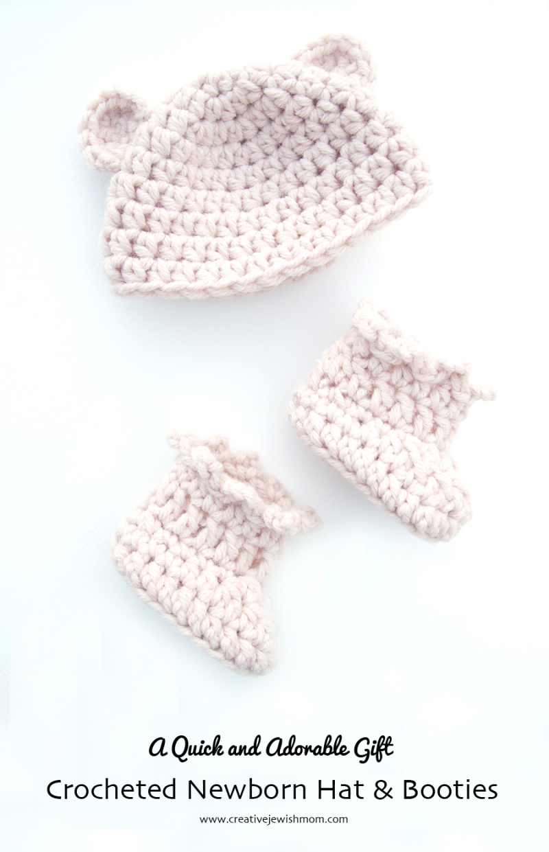 Crocheted-Hat-Booties-Newborn-Set