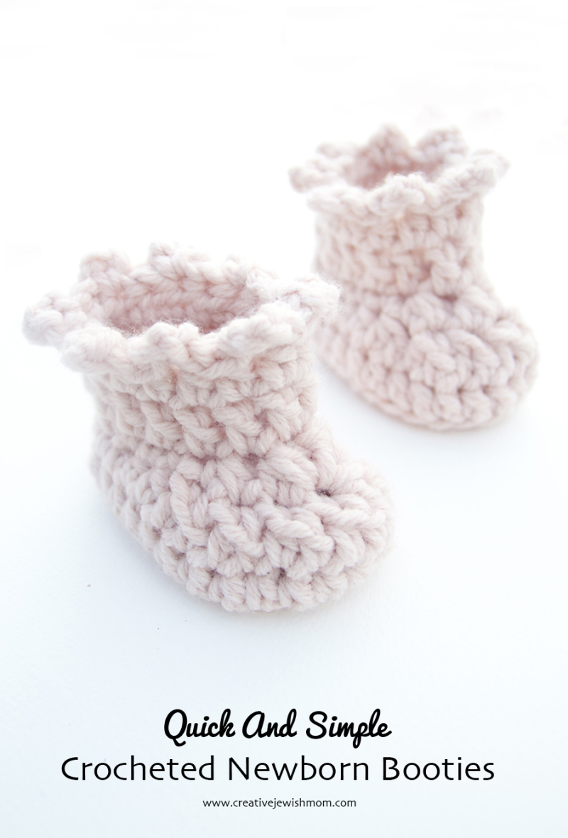 Crocheted-quick-newborn-booties