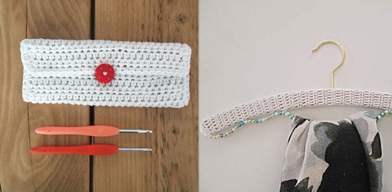 Crochet-hook-bag crochet-hanger-cover