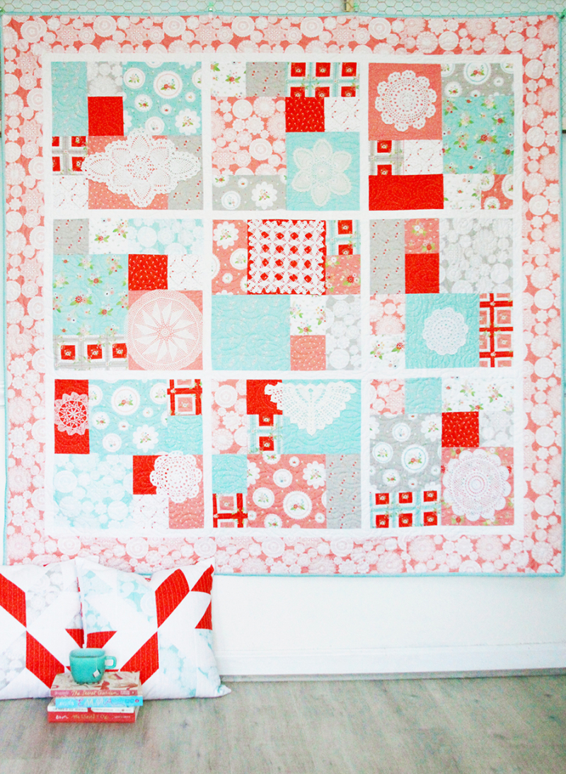 Patchwork-quilt-with-doilies