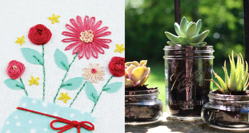 Mason-jar-vase-embroidery