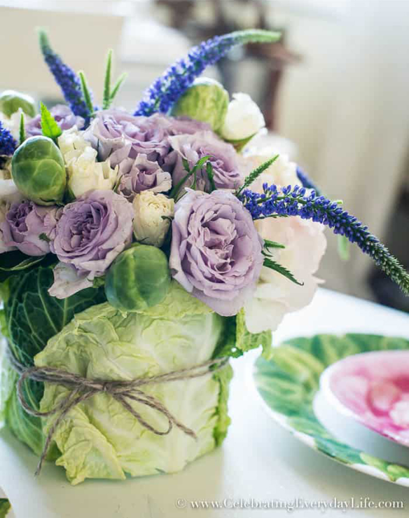 DIY-flower-Cabbage-Arrangement
